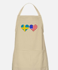 Swedish American Hearts Apron