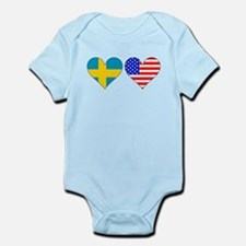 Swedish American Hearts Body Suit