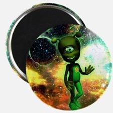 Funny little alien Magnets