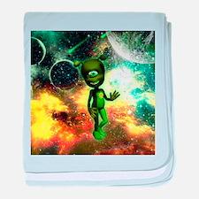 Funny little alien baby blanket