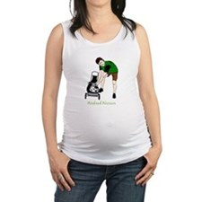 Weekend Warrior Lawn Mower Man Cartoon Maternity T