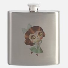 The Day of The Dead Vintage Doll Flask