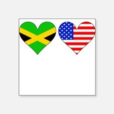 Jamaican American Hearts Sticker
