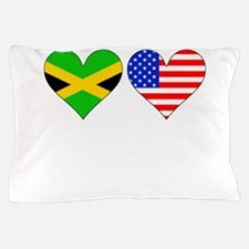Jamaican American Hearts Pillow Case