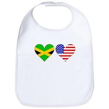 Jamaican American Hearts Bib