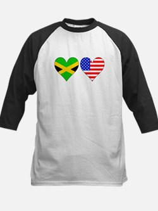 Jamaican American Hearts Baseball Jersey