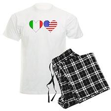 Italian American Hearts Pajamas
