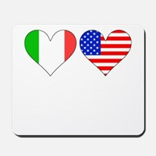 Italian American Hearts Mousepad