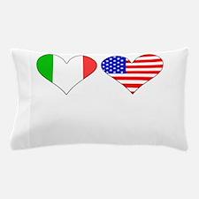 Italian American Hearts Pillow Case