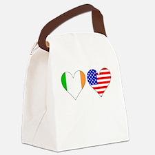 Irish American Hearts Canvas Lunch Bag