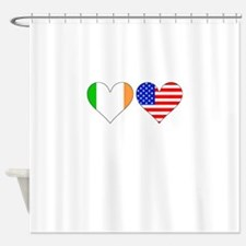 Irish American Hearts Shower Curtain
