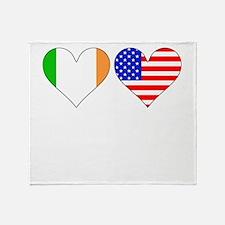 Irish American Hearts Throw Blanket