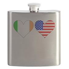 Irish American Hearts Flask