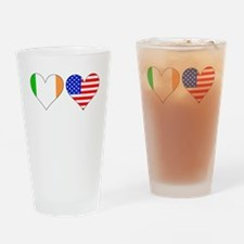 Irish American Hearts Drinking Glass