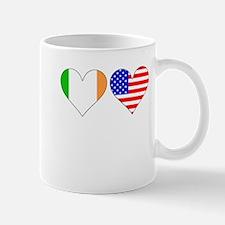 Irish American Hearts Mugs