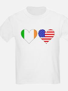 Irish American Hearts T-Shirt