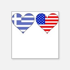 Greek American Hearts Sticker