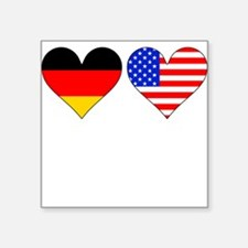 German American Hearts Sticker
