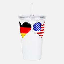 German American Hearts Acrylic Double-wall Tumbler