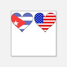 Cuban American Hearts Sticker