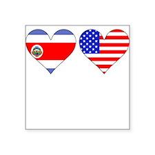 Costa Rican American Hearts Sticker