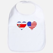 Costa Rican American Hearts Bib