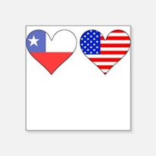 Chilean American Hearts Sticker