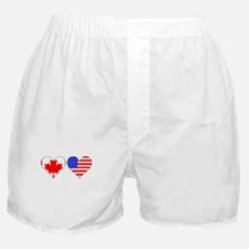 Canadian American Hearts Boxer Shorts