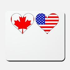 Canadian American Hearts Mousepad