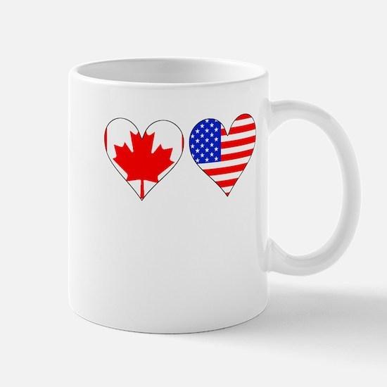 Canadian American Hearts Mugs
