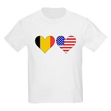 Belgian American Hearts T-Shirt