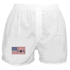 Extreme Skier American Flag Boxer Shorts