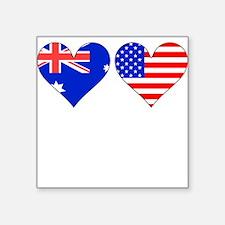 Australian American Hearts Sticker