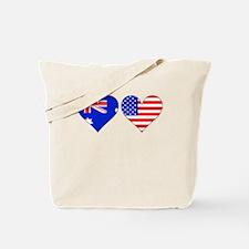 Australian American Hearts Tote Bag