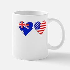 Australian American Hearts Mugs