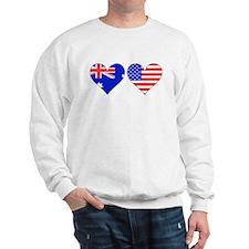 Australian American Hearts Sweatshirt