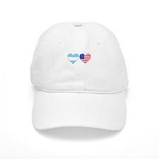 Argentinian American Hearts Baseball Baseball Cap