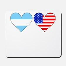 Argentinian American Hearts Mousepad
