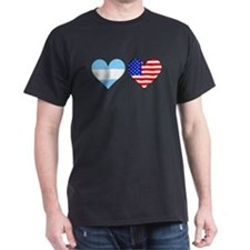 Argentinian American Hearts T-Shirt