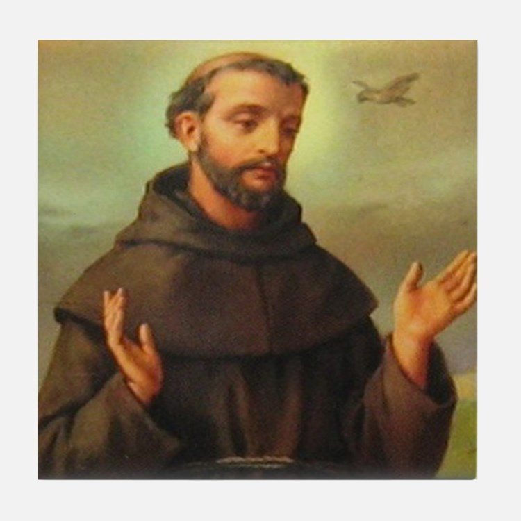 St. Francis of Assisi Tile Coaster