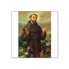 "St. Francis of Assisi Square Sticker 3"" x 3"""