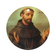 St. Francis of Assisi Ornament (Round)