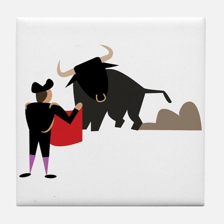 Bullfighter Tile Coaster