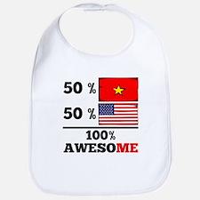 Half Vietnamese Half American Bib
