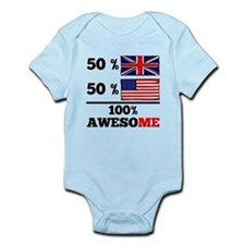 Half British Half American Body Suit