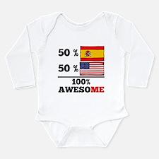 Half Spanish Half American Body Suit