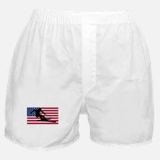 Skier American Flag Boxer Shorts