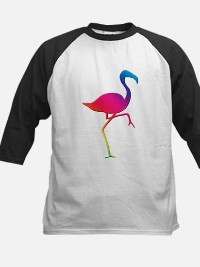 Rainbow Flamingo Kids Baseball Jersey