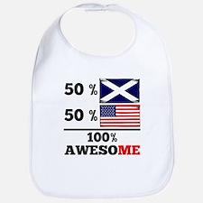Half Scottish Half American Bib