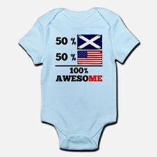 Half Scottish Half American Body Suit